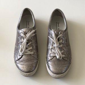 Josef Seibel Metallic silver shoes